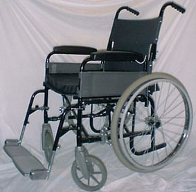 Photograph Of Ju Gosling S Nhs Manual Folding Wheelchair